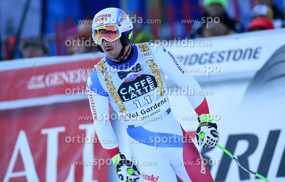16.12.2016, Saslong, St. Christina, ITA, FIS Weltcup Ski Alpin, Groeden, Abfahrt, Herren, im Bild Carlo Janka (SUI) // Carlo Janka of Switzerland reacts after his run of men's downhill of FIS Ski Alpine World Cup at the Saslong in St. Christina, Italy on 2016/12/16. EXPA Pictures © 2016, PhotoCredit: EXPA/ Erich Spiess