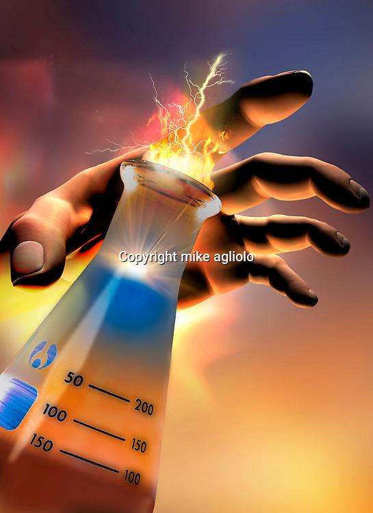 hand reaching for becker