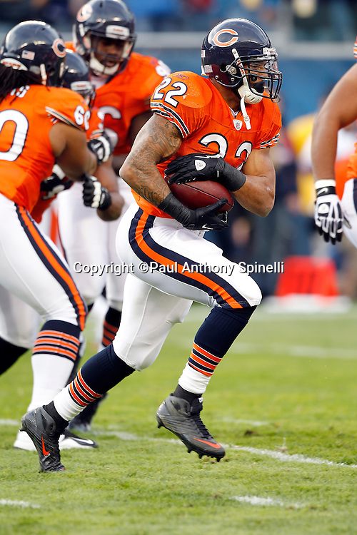 Chicago Bears running back Matt Forte (22) runs the ball during the NFL week 10 football game against the Detroit Lions on Sunday, November 13, 2011 in Chicago, Illinois. The Bears won the game 37-13. ©Paul Anthony Spinelli