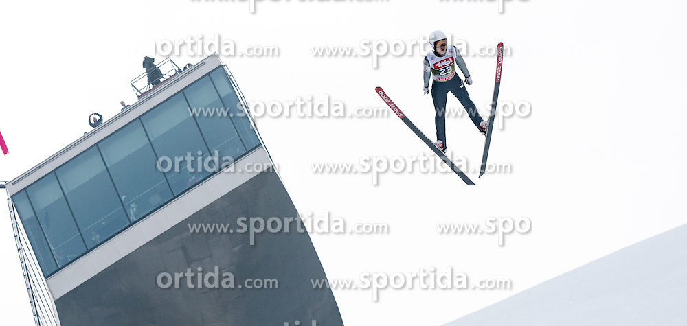 03.01.2015, Bergisel Schanze, Innsbruck, AUT, FIS Ski Sprung Weltcup, 63. Vierschanzentournee, Innsbruck, Training, im Bild Seou Choi (KOR) // Seou Choi of South Korea soars through the air during a training session for the 63rd Four Hills Tournament of FIS Ski Jumping World Cup at the Bergisel Schanze in Innsbruck, Austria on 2015/01/03. EXPA Pictures © 2015, PhotoCredit: EXPA/ Jakob Gruber
