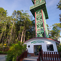 Tower of Heaven observatory platform, Gunung Silam, Sabah, Malaysia, Borneo, South East Asia.