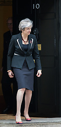 © Licensed to London News Pictures. 02/11/2017. London, UK. Prime Minister Theresa May leaves 10 Downing Street. Photo credit: Rob Pinney/LNP