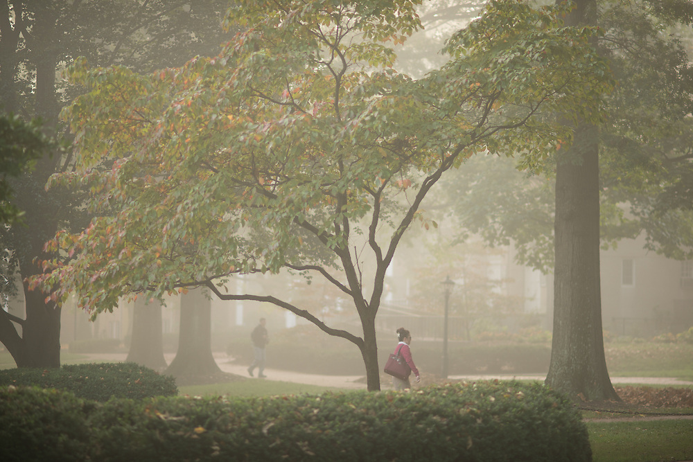 College Green during the fall. Photo by Ben Siegel