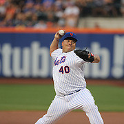 Pitcher Bartolo Colon, New York Mets, pitching during the New York Mets Vs San Diego Padres MLB regular season baseball game at Citi Field, Queens, New York. USA. 29th July 2015. Photo Tim Clayton