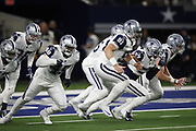 The Dallas Cowboys in action during the NFL week 13 regular season football game against the New Orleans Saints on Thursday, Nov. 29, 2018 in Arlington, Tex. The Cowboys won the game 13-10. (©Paul Anthony Spinelli)