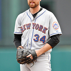 March 5, 2011; Lake Buena Vista, FL, USA; New York Mets starting pitcher Mike Pelfrey (34) during a spring training exhibition game against the Atlanta Braves at Disney Wide World of Sports complex.  Mandatory Credit: Derick E. Hingle