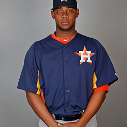 Feb 21, 2013; Kissimmee, FL, USA; Houston Astros starting pitcher Jose Cisnero (68) during photo day at Osceola County Stadium. Mandatory Credit: Derick E. Hingle-USA TODAY Sports