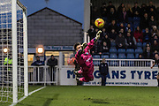 Matt Ingram (goalkeeper) of Wycombe Wanderers makes a great save during the Sky Bet League 2 match between Hartlepool United and Wycombe Wanderers at Victoria Park, Hartlepool, England on 16 January 2016. Photo by George Ledger.