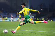 Norwich City defender Jamal Lewis (12) in action during the The FA Cup match between Burnley and Norwich City at Turf Moor, Burnley, England on 25 January 2020.