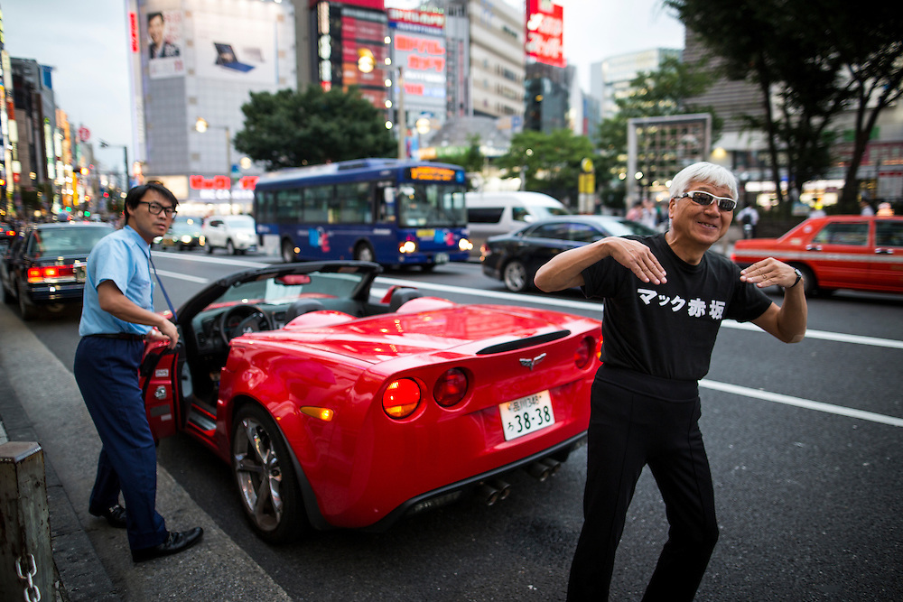 TOKYO, JAPAN - JULY 20 : Mac Akasaka real name Makoto Tonami, is a Japanese businessman and political activist from Smile Party he founded, posed for photo before his campaign speech for the July 31 Tokyo gubernatorial election in Shinjuku, Tokyo, Japan on Wednesday, July 20, 2016.   (Photo: Richard Atrero de Guzman/NUR Photo)