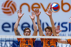 13-04-2019 NED: Achterhoek Orion - Draisma Dynamo, Doetinchem<br /> Orion win the fourth set and play the final round against Lycurgus. Dynamo won 2-3 / Joris Marcelis #4 of Orion, Twan Wiltenburg #9 of Orion