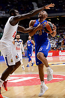 Real Madrid's Othello Hunter and Anadolu Efes's Jayson Granger during Turkish Airlines Euroleague match between Real Madrid and Anadolu Efes at Wizink Center in Madrid, April 07, 2017. Spain.<br /> (ALTERPHOTOS/BorjaB.Hojas)
