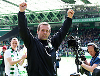 24/05/15 SCOTTISH PREMIERSHIP<br /> CELTIC v INVERNESS CT<br /> CELTIC PARK - GLASGOW<br /> Celtic manager Ronny Deila celebrates<br /> ** ROTA IMAGE - FREE FOR USE **