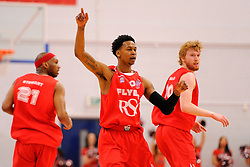 Bristol Flyers' Bree Perine celebrates  - Photo mandatory by-line: Joe Meredith/JMP - Mobile: 07966 386802 - 18/04/2015 - SPORT - Basketball - Bristol - SGS Wise Campus - Bristol Flyers v Leeds Force - British Basketball League