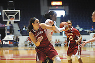 """Mississippi Lady Rebels forward Danielle McCray (22) battles for the ball against Alabama Crimson Tide guard Hannah Cook (11) at the C.M. """"Tad"""" Smith Coliseum in Oxford, Miss. on Sunday, January 11, 2015. (AP Photo/Oxford Eagle, Bruce Newman)"""