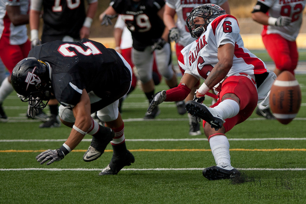 Santa Ana College vs Palomer football on Saturday September 24, 2011.