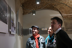 March 30, 2019 - Madrid, Spain - Iñigo Errejon (R) seen attending the explanations of photographer Javier Marquerie (L) about the exhibition. The candidate of ''Mas Madrid'' to the Community, Iñigo Errejon, visits the exhibition ''Madrid, how good you are!'' from photographer Javier Marquerie. (Credit Image: © Jesus Hellin/ZUMA Wire)