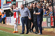 Gary Johnson during the EFL Sky Bet League 2 match between Cambridge United and Cheltenham Town at the Cambs Glass Stadium, Cambridge, England on 21 April 2018. Picture by Antony Thompson.