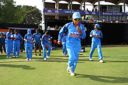 Indian players during the second women's one day International ( ODI ) match between India and Australia held at the Reliance Cricket Stadium in Vadodara, India on the 15th March 2018<br /> <br /> Photo by Vipin Pawar / BCCI / SPORTZPICS