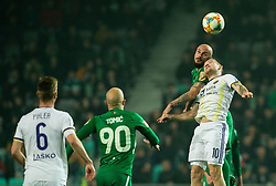 Goran Brkić of Olimpija vs Dino Hotić of Maribor during Football match between NK Olimpija and NK Maribor in 23rd Round of Prva liga Telekom Slovenije 2018/19 on March 16, 2019, in SRC Stozice, Ljubljana, Slovenia. Photo by Vid Ponikvar / Sportida