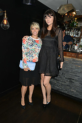 Left to right, PIPS TAYLOR and LILAH PARSONS at a dinner to celebrate London Fashion Week SS 2015 and the opening of Ramusake at 92 Old Brompton Road, London on 15th September 2014.
