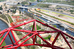 © Licensed to London News Pictures . 05/04/2014. London, UK. The ArcelorMittal Orbit and  Queen Elizabeth Olympic Park open to the public today  (05/04/2014). Photo credit: LNP