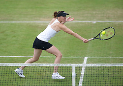 LIVERPOOL, ENGLAND - Saturday, June 18, 2011: Martina Hingis (SUI) in action during day three of the Liverpool International Tennis Tournament at Calderstones Park. (Pic by David Rawcliffe/Propaganda)