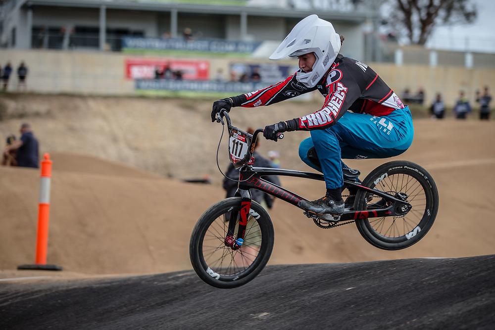 #117 (MARTINEZ Tessa) FRA at Round 3 of the 2020 UCI BMX Supercross World Cup in Bathurst, Australia.