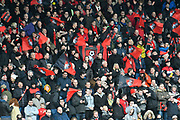 Bournemouth fans waving flags before the Premier League match between Bournemouth and Tottenham Hotspur at the Vitality Stadium, Bournemouth, England on 11 March 2018. Picture by Graham Hunt.