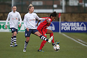 Preston Midfielder Lagan Makin during the FA Women's Lancashire Cup Final match between Preston North End Ladies and Blackburn Rovers Women at the County Ground, Leyland, United Kingdom on 28 April 2016. Photo by Pete Burns.