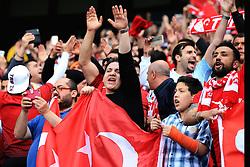 Turkey fans - Mandatory byline: Matt McNulty/JMP - 07966386802 - 22/05/2016 - FOOTBALL - Etihad Stadium -Manchester,England - England v Turkey - International Friendly