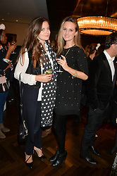 Left to right, LADY NATASHA RUFUS-ISAACS and BRYONY DANIELS at a party to celebrate the 15th anniversary of Myla held at the House of Myla, 8-9 Stratton Street, London on 21st October 2014.
