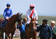 Jockey Luke Morris after riding Zamani to victory in the 2.20 race at Brighton Racecourse, Brighton & Hove, United Kingdom on 10 June 2015. Photo by Bennett Dean.