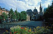 DEU, Germany, Aachen, the cathedral and the square Katschhof....DEU, Deutschland, Aachen, der Dom und der Katschhof.  ......
