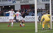 3rd February 2018, Dens Park, Dundee, Scotland; Scottish Premier League football, Dundee versus Ross County; Penalty appeal as Liam Fontaine of Ross County brings down Simon Murray of Dundee