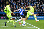Fernando Forestieri of Sheffield Wednesday scores but his goal is ruled out during the Sky Bet Championship Playoff Semi Final First Leg at Hillsborough, Sheffield<br /> Picture by Richard Land/Focus Images Ltd +44 7713 507003<br /> 13/05/2016