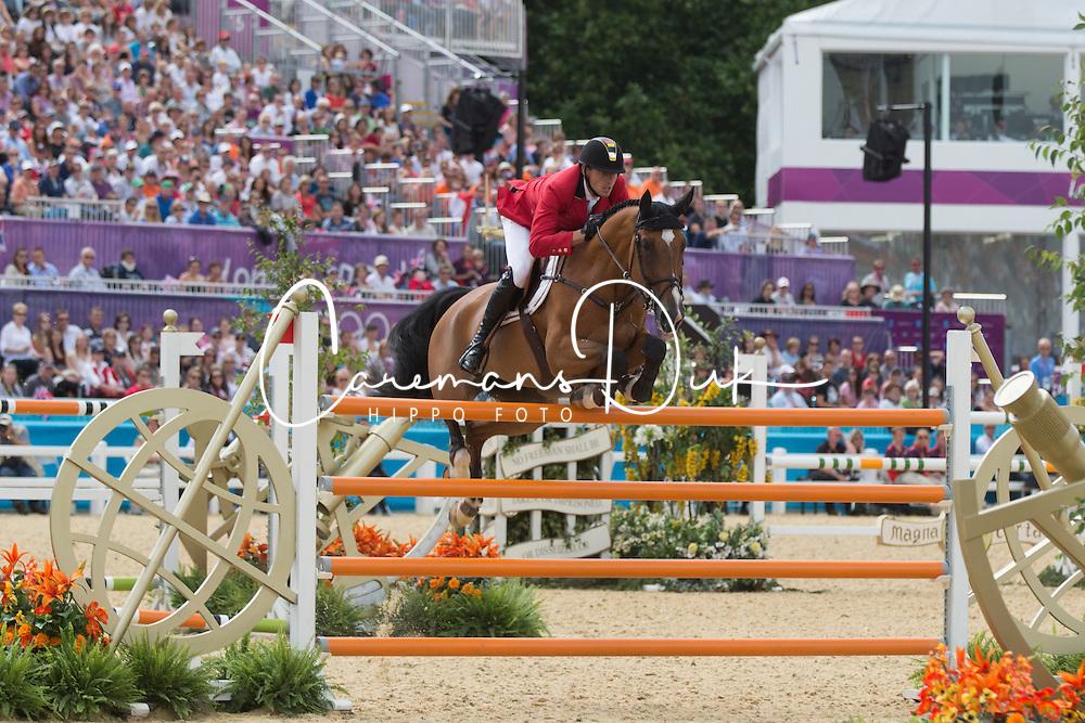 Wathelet Gregory (BEL) - Cadjanine Z<br /> Olympic Games London 2012<br /> © Dirk Caremans