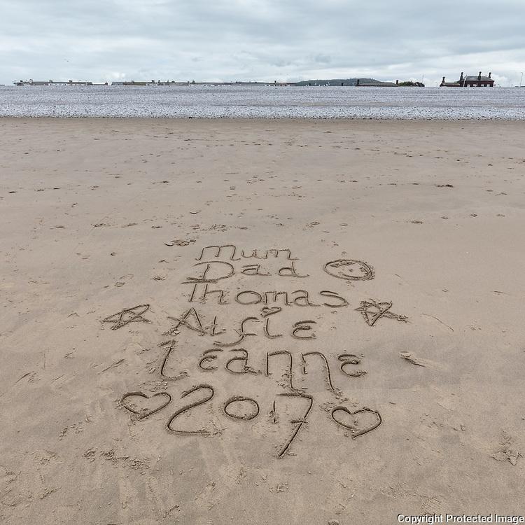 Mum, Dad, Thomas, Alfie, Leanne. Kinmel Bay, Conwy.