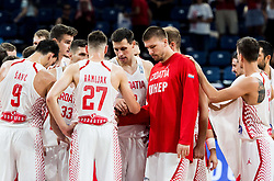 Players of Croatia after the basketball match between National Teams of Croatia and Russia at Day 11 in Round of 16 of the FIBA EuroBasket 2017 at Sinan Erdem Dome in Istanbul, Turkey on September 10, 2017. Photo by Vid Ponikvar / Sportida
