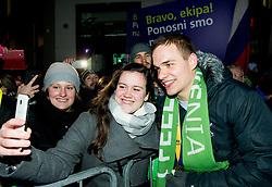 Vid Poteko during reception of Slovenian National Handball Men team after they placed third at IHF World Handball Championship France 2017, on January 30, 2017 in Mestni trg, Ljubljana centre, Slovenia. Photo by Vid Ponikvar / Sportida