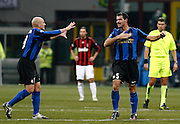 "Dejan Stankovic celebrates scoring with Esteban Cambiasso.Milano 15/2/2009 Stadio ""Giuseppe Meazza"".Campionato Italiano Serie A.Inter Milan."