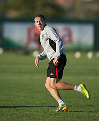 PODGORICA, MONTENEGRO - Thursday, September 2, 2010: Wales' captain Craig Bellamy during a training session at the Montenegro FA Technical Centre ahead of the UEFA Euro 2012 Qualifying Group 4 match against Montenegro. (Pic by David Rawcliffe/Propaganda)