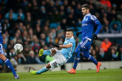 15.03.2016, Etihad Stadium, Manchester, ENG, UEFA CL, Manchester City vs Dynamo Kiew, Achtelfinale, Rueckspiel, im Bild aguero sergio, veloso miguel // during the UEFA Champions League Round of 16, 2nd Leg match between Manchester City and FC Dynamo Kyiv at the Etihad Stadium in Manchester, Great Britain on 2016/03/15. EXPA Pictures © 2016, PhotoCredit: EXPA/ Pressesports/ MARTIN RICHARD<br /> <br /> *****ATTENTION - for AUT, SLO, CRO, SRB, BIH, MAZ, POL only*****