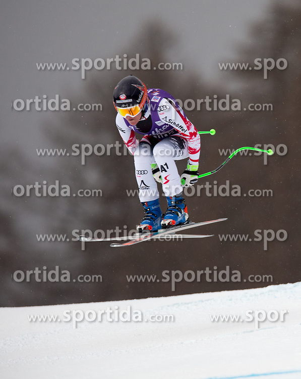 16.01.2015, Olympia delle Tofane, Cortina d Ampezzo, ITA, FIS Weltcup Ski Alpin, Abfahrt, Damen, im Bild Andrea Fischbacher (AUT) // Andrea Fischbacher of Austria in action during the ladies Downhill of the Cortina FIS Ski Alpine World Cup at the Olympia delle Tofane course in Cortina d Ampezzo, Italy on 2015/01/16. EXPA Pictures © 2015, PhotoCredit: EXPA/ Johann Groder