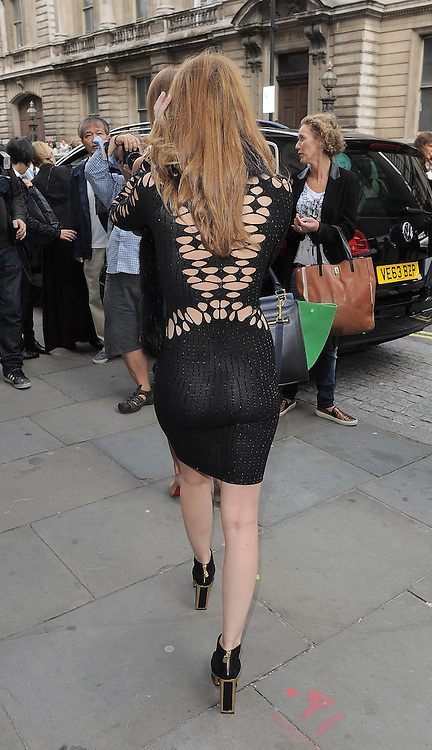 Mad In Chelsea star Rosie Fortescue attends the Julien Macdonald SS 2015 catwalk show during London Fashion Week Spring Summer 2015 in London, UK. 13/09/2014 <br />BYLINE MUST READ : GOTCHAIMAGES.COM<br /><br />Copyright by &copy; Gotcha Images Ltd. All rights reserved.<br />Usage of this image is conditional upon the acceptance <br />of Gotcha Images Ltd, terms and conditions available at<br />www.gotchaimages.com