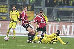 05.12.2010, EasyCredit Stadion, GER, Nuernberg, 1. FBL, 1. FC Nuernberg vs Borussia Dortmund, im Bild Dreikampf zwischen Jens Hegeler (FCN #13), Timmy Simons (FCN #2) und Nuri Sahin ( Dortmund #08 ) EXPA Pictures © 2010, PhotoCredit: EXPA/ nph/  Becher       ****** out ouf GER ******