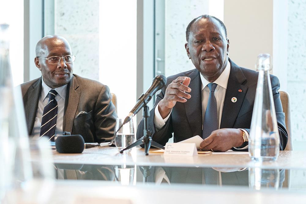 Business Briefing with HE Alassane Ouattara, President of Cote d'Ivoire. London, 21 January 2020. (Photos/Ivan Gonzalez)