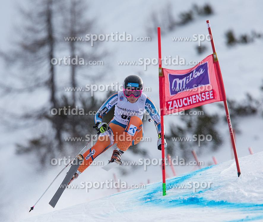 11.01.2014, Kalberloch, Zauchensee, AUT, FIS Ski Weltcup, Abfahrt, Damen, Bewerb, im Bild Mirjam Puchner (AUT) // Mirjam Puchner of Austria in action during ladies downhill of the Altenmarkt Zauchnesee FIS Ski Alpine World Cup at the Kaelberloch course in Zauchensee, Austria on 2014/01/11. EXPA Pictures © 2014, PhotoCredit: EXPA/ Johann Groder