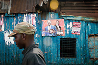 Kibera slums of Nairobi, a Raila stronghold. Towards the later afternoon, Uhuru Kenyatta's lead began to widen.