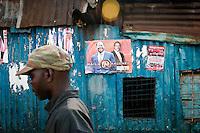 Kibera slums of Nairobi, a Raila stronghold. Towards the later afternoon, Uhuru Kenyatta's lead began to widen.